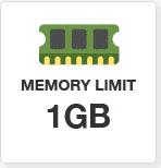 1 GB di Memoria dedicata